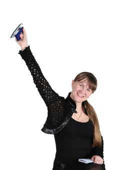 Free Girl With Hole-puncher Stock Photos - 4568323