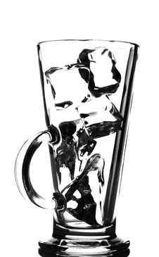 Free Ice Cubes In A Tall Glass Stock Photography - 4568452