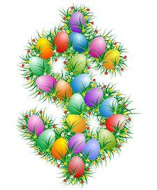 Free Easter Dollar Sing Royalty Free Stock Image - 4568536