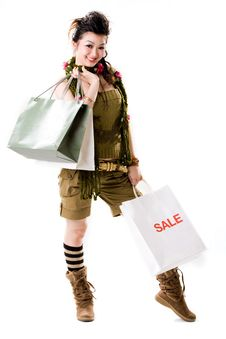 It S Shopping Time Royalty Free Stock Photography