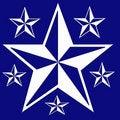 Free White Stars Background Stock Images - 4574534