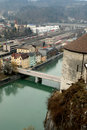Free Small Austrian Town From The Bird-view Royalty Free Stock Photos - 4575658