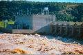 Free Flood Stage At Kerr Dam Stock Image - 4576091