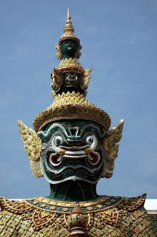 Free Head Of Guardian Demon At The Grand Palace. Royalty Free Stock Photography - 4571617
