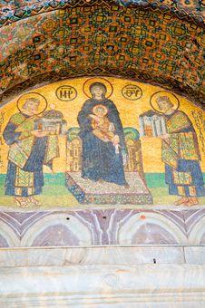 Free Mosaic Panel From Hagia Sophia, Istanbul, Turkey Stock Photo - 4572050