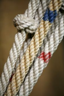 Free Rope With Knots Royalty Free Stock Image - 4572196