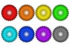 Free Colorful Flower Buttons Royalty Free Stock Images - 4572419