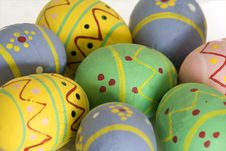 Easter Eggs Painted By Hand Royalty Free Stock Photos