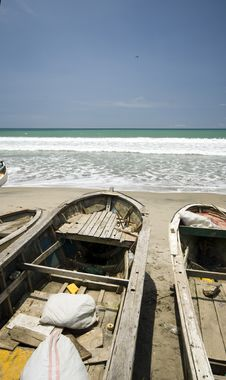 Fishing Boats On The Pacific Ocean Ecuador Royalty Free Stock Image