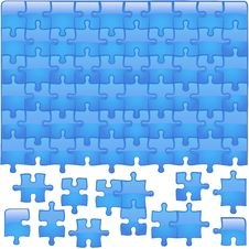 Free Glass Puzzle Aqua Royalty Free Stock Photo - 4575925
