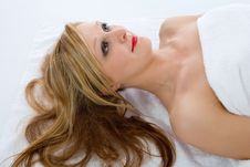 Free Attractive Woman Getting Spa Treatmen Royalty Free Stock Photos - 4576018