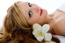 Free Attractive Woman Getting Spa Treatmen Royalty Free Stock Image - 4576026
