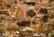 Reddish Stone Wall Texture Stock Photo