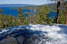 Waterfall By Emerald Bay, Lake Tahoe Stock Photos