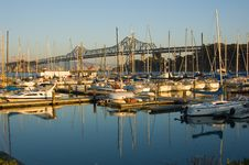 Free Marina Next To Bay Bridge Royalty Free Stock Photos - 4576638