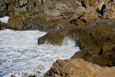 Free Lady Sitting On The Rocky Shore Stock Photos - 4576863