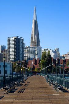 Pier In San Francisco Royalty Free Stock Image
