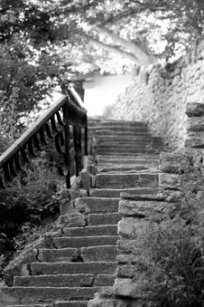 Stoned Stair Stock Image