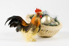 Free Cock And Eggs In A Nest Royalty Free Stock Image - 4577326