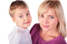 Woman With Kid  3 Royalty Free Stock Photo
