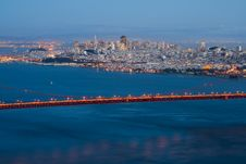 Free San Francisco Skyline At Night Stock Images - 4577964