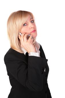 Free Middleaged Businesswoman With Cellphone Royalty Free Stock Photos - 4578108