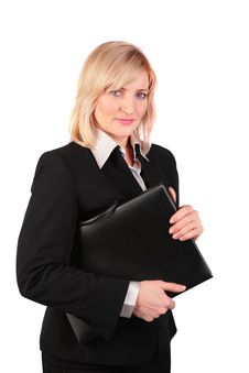 Free Middleaged Businesswoman With Black Folder Royalty Free Stock Photography - 4578167