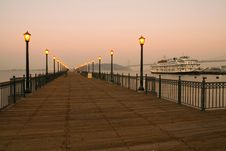 Pier 7 In San Francisco Royalty Free Stock Photo