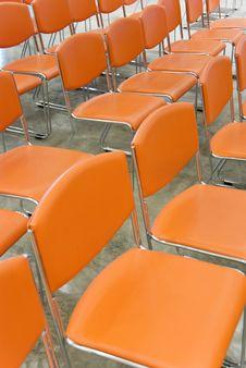 Free Orange Chairs Royalty Free Stock Image - 4578716