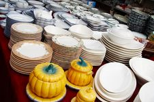 Free A Stack Dishware On Sale Stock Photography - 4578852