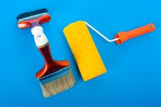 Free Paintbrushes And Paintroller Stock Photography - 4578942