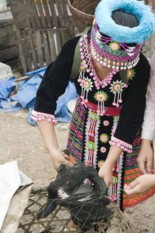 Free Hmong Woman In Laos Royalty Free Stock Photography - 4579557