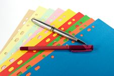 Free Divider Set And Pens Stock Photography - 4579662