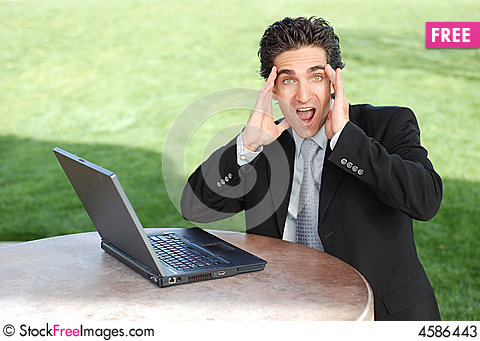 Free Shocked Businessman Stock Photos - 4586443