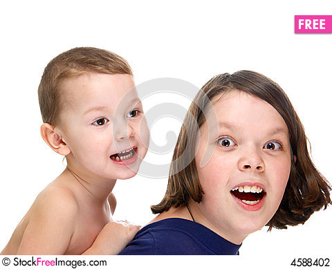 Free Brothers Play Stock Photography - 4588402