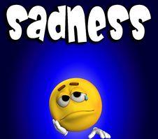Sadness Word 2 Stock Photos