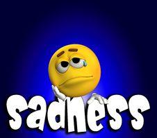 Sadness Word 3 Royalty Free Stock Photos