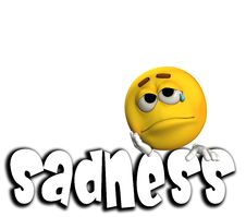 Sadness Word 4 Royalty Free Stock Images