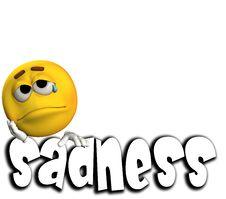 Sadness Word 5 Stock Photos