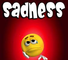 Sadness Word 1 Stock Photos