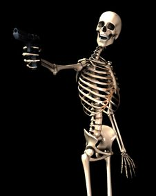 Skeleton And Gun 11 Stock Images