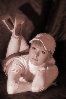 Free Girl In White Cap Royalty Free Stock Image - 4580556