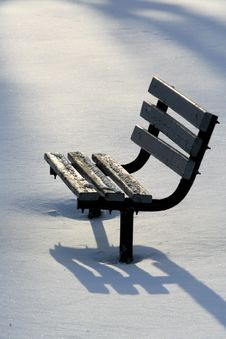 Free Lonely Park Bench Stock Images - 4580624