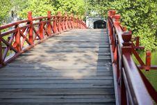 Red Bridge In Hanoi Stock Images