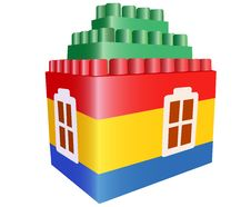 Free House Toy Construction Vector Royalty Free Stock Photos - 4580748