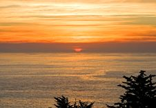 Sunset Over California Coast Stock Images