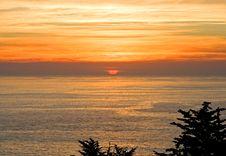 Sunset Over California Coast Stock Images