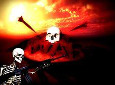 War Skeleton War Background 7 Stock Photo