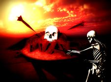 Free War Skeleton War Background 8 Royalty Free Stock Images - 4581339