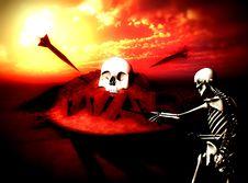 War Skeleton War Background 8 Royalty Free Stock Images
